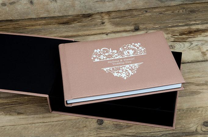 wedding album in box