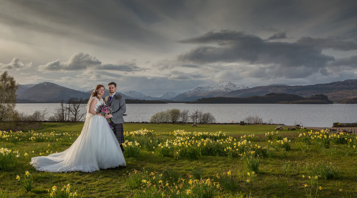 wedding photography Loch Lomond