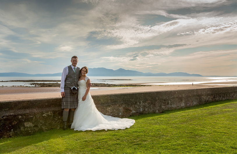 wedding photography, Seamill Hydro