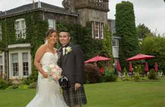 Dalmeny park hotel wedding photo