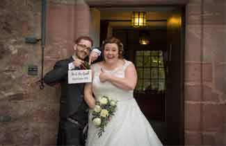 wedding photography Fingask Castle