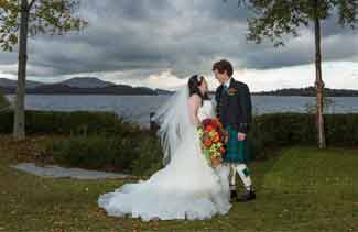 wedding photographers Lodge on the Loch