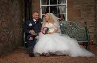 wedding photos at Shieldhill Castle