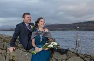 wedding photography taychreggan hotel